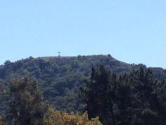 Cross overlooking San Juan Bautista