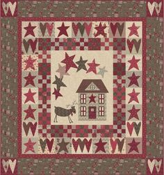A great Christmas quilt, right now it's probably out of my comfort zone with the appliques, but I'm hoping someday I can make this one.
