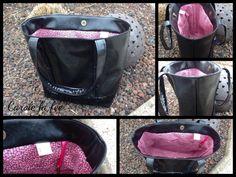 Un sac à paillettes simili et Liberty rose