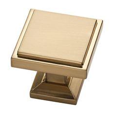 Liberty Classic Square 1-1/8 in. (28 mm) Champagne Bronze Cabinet Knob-P37502C-CZ-CP - The Home Depot