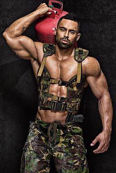 Sexy black military men