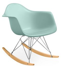Eames armchair rocker - in aqua