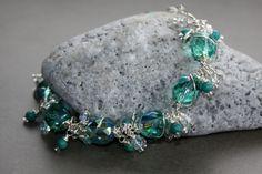 Aqua Dangle Bracelet