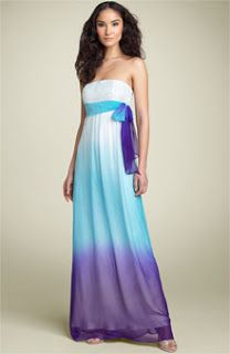 Kate, is this more of what you have in mind? It's at Nordstrum's.com for $114. This dress is currently sold out. :(  The name of this dress: Mary L Couture Sequin Bodice Ombre` Chiffon Gown