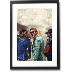 "Framed Sartorial Painting No.193 Lapo Elkann Print, 16"" X 24"" Lapo Elkann, The Republic, Epson, Black Wood, Fine Art Paper, Solid Black, Museum, Frame, Artist"