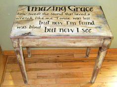 vintage piano bench re-purposed... http://pinterest.com/cameronpiano