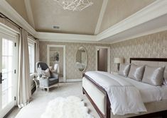 Neutral and classic. Designed by Tiffany Eastman Interiors #laylagrayce #bedroom #neutral