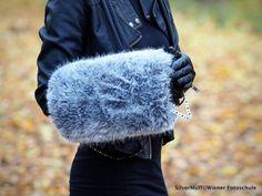SilverMUFF von STERNENTAU auf Etsy fake fur Fur Bag, Fake Fur, Austria, Winter Hats, Etsy, Handmade, Bags, Fashion, Handbags