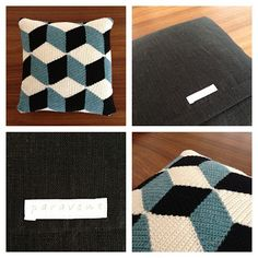 A really clever isometric cushion, we love the effect.