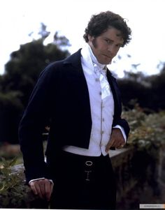 "Colin Firth's depiction of Mr. Darcy in the 1995 production of ""Pride & Prejudice""."