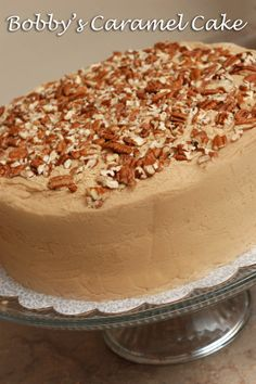 Sugar & Spice by Celeste: Bobby's Caramel Cake - Paula Deen. Nothing is more Southern, my Grandfather's favorite...great recipe.