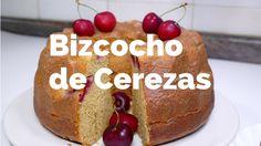 Bizcocho de Cerezas / RECETA CASERA Fácil de Hacer / Josean MG   Cupcakes, Coco, Baked Potato, Baking, Ethnic Recipes, Youtube, Homemade Recipe, Breakfast, Pastries