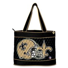 New Orleans Saints Tote Bag With Free Cosmetic Cases $69.95