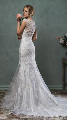 "Amelia Sposa 2016 Wedding Dresses | Wedding Inspirasi | ""Pia""-- (Silver, Back View)..........................................."