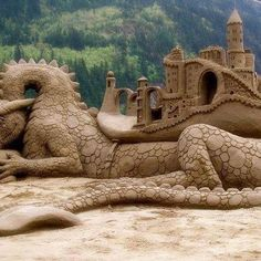 Sand Art is the practice of modelling sand into an artistic form, such as a sand brushing, sand sculpture, sand painting, or sand bottles. A sand castle is a type of sand sculpture resembling a min…