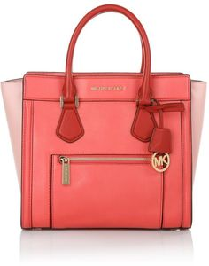 MICHAEL Michael Kors Colette Zip LG Satchel Watermelon/ Pink/ Chili Handtaschen
