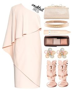 """""""Cocktail dress"""" by simona-altobelli ❤ liked on Polyvore featuring Givenchy, Giuseppe Zanotti, Judith Leiber, Chanel, L'Oréal Paris, Hourglass Cosmetics, Mixit, MyStyle and polyvorecontest"""