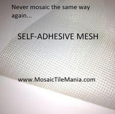 Self-Adhesive Fiberglass Mesh for Mosaic Tiles x - Mosaic Tile Mania Mosaic Diy, Mosaic Crafts, Mosaic Projects, Mosaic Glass, Mosaic Tiles, Stained Glass, Glass Art, Tiling, Art Crafts