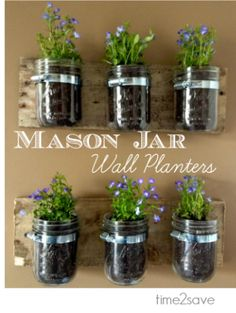 DIY Archives - Time 2 Save Workshops   Mason Jar Wall Planter