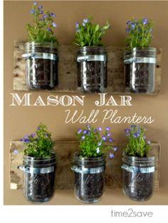 DIY Archives - Time 2 Save Workshops Mason Jar Wall Planter