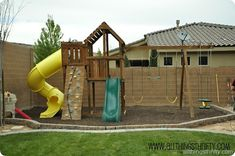 My kids love this outdoor swing set and we built it ourselves.