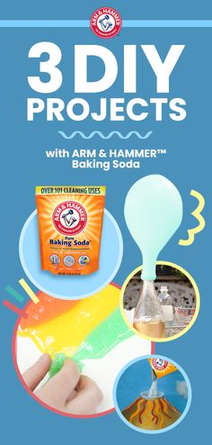 Discover endless science fun with ARM & HAMMER™ Baking Soda. These simple DIY projects use materials you can find around the house for affordable, educational activities that will keep your kids entertained for hours.