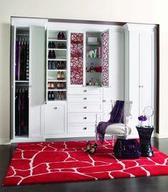 California Closet   Reach In Closet With Raised Panels, Eco Resin Door  Inserts In Lago, Bellissima White Finish