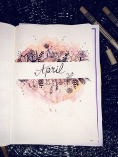 April spread My Journal, Bullet Journal