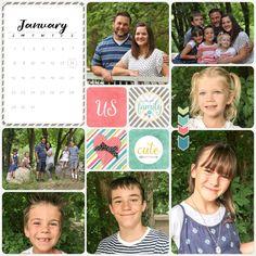 2017 Monthly Calendar Journaling Cards Printable by AdorningFotos