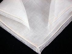 Vintage Irish Linen Lace Bridal Wedding by littlebitvintage2, $8.99