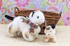 *Muffy Vanderbear's Purrlie Kitty and Kitten w  Basket