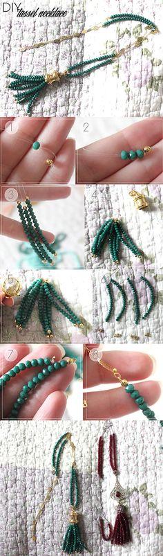DIY - Tassel necklace.