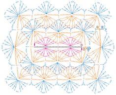 Tutorial: manta o cobija tejida en bavarian crochet con rosas rococó! Crochet Motif Patterns, Crochet Stitches Patterns, Crochet Diagram, Crochet Chart, Crochet Squares, Crochet Granny, Crochet Doilies, Bavarian Crochet, Knooking
