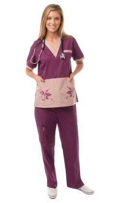 Women's Distinctive Missy Fit Contrast Uniform Scrubs