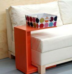 Holz Beistelltisch-lustige Orange Farbe