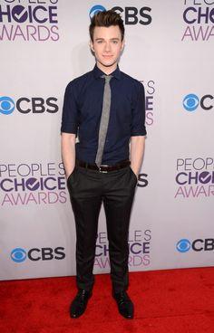Chris Colfer: People's Choice Awards Red Carpet 2013