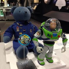 """Magellan T. Bear and #BuzzLightyear get ready to go back on display in our """"Moving Beyond Earth"""" gallery. Visit them at the Museum in DC starting this weekend."""