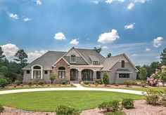 LOVE the way the outside of this home looks.and all of the porches. French Country House Plan with 3047 Square Feet and 4 Bedrooms from Dream Home Source French Country House Plans, European House Plans, Craftsman Style House Plans, Ranch House Plans, Bedroom House Plans, Craftsman Exterior, Craftsman Houses, Exterior Shutters, Country French