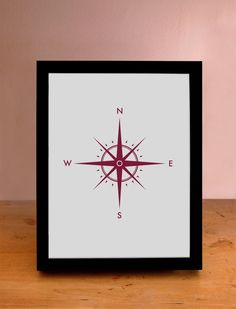 Nautical Compass  Wall Art by ThePrintingDock on Etsy, $8.95