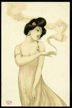 Raphael Kirchner  Série Femme fumeuse, 1904