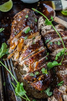 Asian Pork Tenderloin with Ginger Glaze (Slow Cooker) from The Food Charlatan