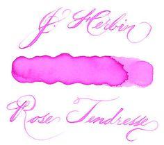 J. Herbin 30 ml Bottle Fountain Pen Ink, Rose Tendresse