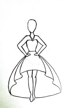 Step by step guide to draw Fashion sketches for beginners – Rishita Baxi drawings dress Step by step guide to draw Fashion sketches for beginners Easy Sketches For Beginners, Pencil Drawings For Beginners, Girl Drawing Sketches, Cute Easy Drawings, Art Drawings Sketches Simple, Easy Sketches To Draw, Simple Cartoon Drawings, Doodle For Beginners, Step By Step Sketches