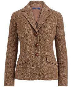 Brown Blazer, Tweed Blazer, Tweed Jacket, Ralph Lauren Blazer, Ralph Lauren Style, Blazer Jackets For Women, Blazers For Women, Ralph Lauren France, Simple Work Outfits