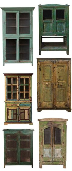 Ever since I found my hutch and painted it pink, I've been slightly obsessing over all these rustic cabinet type a deals. I feel like they are such good statement pieces, they're functional and have oodles of personality… The only trouble is, if you're not careful, ye old rustic hutch can easily slip into the shabby …