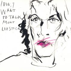 Self Portrait by Jhartho Kempink. #art #drawing #artist #black  #lipstick