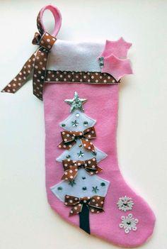 Pink Baby Girl Christmas Stocking