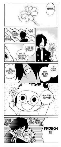 Fairy Tail sabertooth chapter  page 5 & 6. Frosch is so sweet!!!!