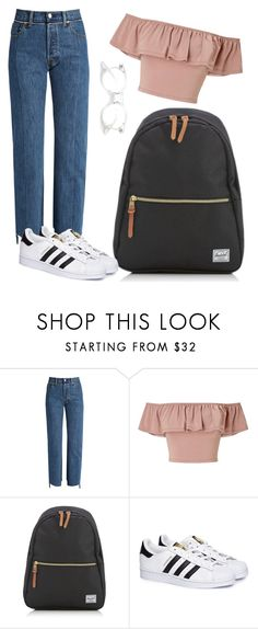 """""""❤❤"""" by kinnfors on Polyvore featuring Vetements, Miss Selfridge, Herschel and adidas"""