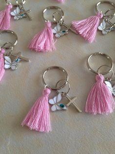 bebe Silver Rhinestone Embellished Letter B E Keychain Ring Purse Handbag Charm